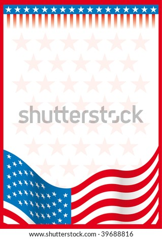 usa document - stock vector