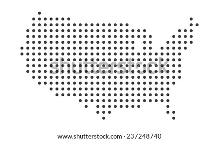 Usa Map Dots Stock Images RoyaltyFree Images Vectors - Usa map template