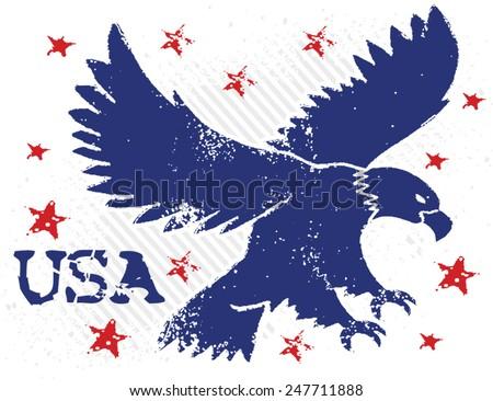 usa eagle - stock vector