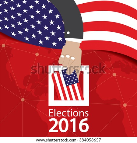 USA Election Concept Vector Illustration