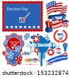 USA Election Day Graphics Set - stock vector