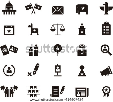 USA ELECTIONS glyph icons - stock vector