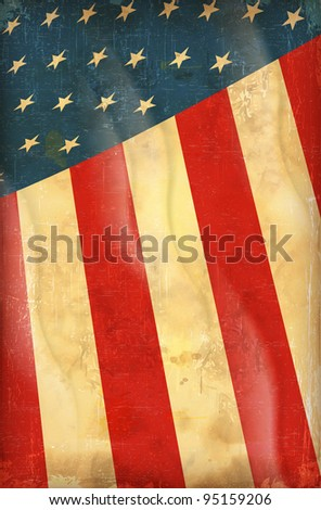 USA flag - stock vector