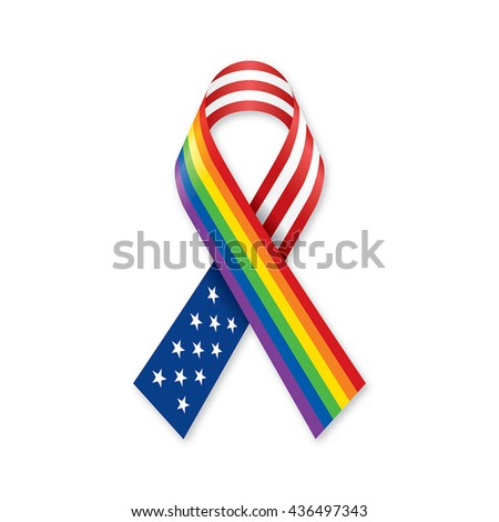 gay rainbow ribbons