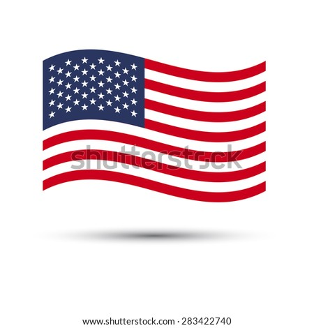 USA flag  background.Illustratiom EPS10
