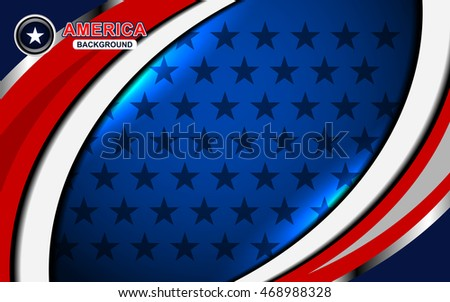 USA Flag Color Backgrounds, vector illustration