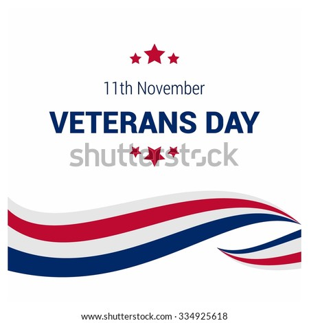 Usa flag color lines pattern background. Happy Veterans Day. November 11th, United state of America, U.S.A veterans day design. Beautiful USA flag Composition. veterans Day poster design - stock vector