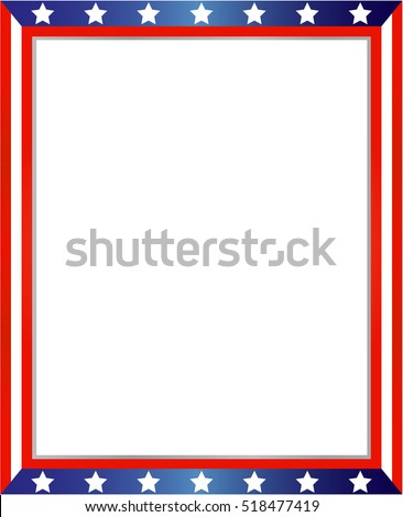 USA Flag Frame On White Background Stock Vector HD (Royalty Free ...