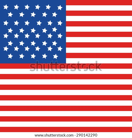USA flag in style vector.Banners with american flag. Independence Day design. Banners Set with american flag. Independence Day Labels with american flag for Holiday Design. American flag vector.