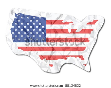 USA flag paper tag