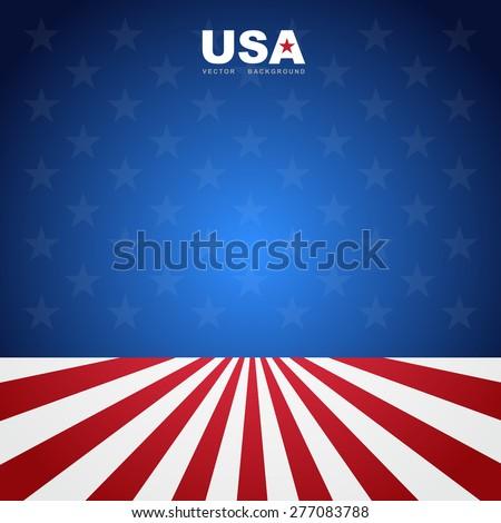 USA flag pattern background.Illustratiom EPS10 - stock vector