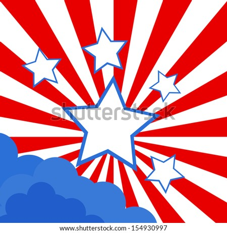 USA Flag theme background vector