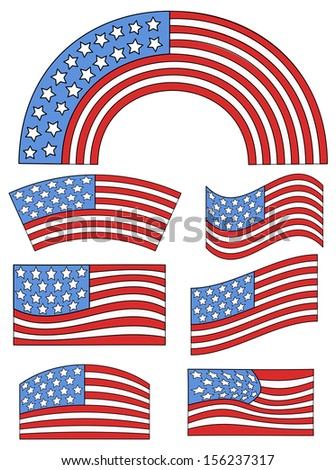 USA Flag theme design - Constitution Day Vector Illustration