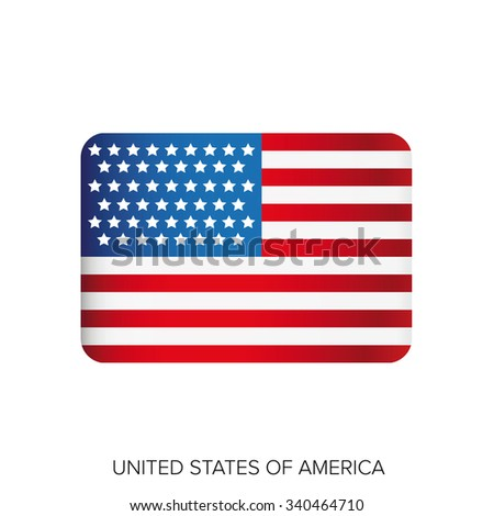 USA flag vector - stock vector