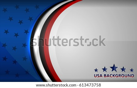 USA Flag, Vector background for Independence Day and other events
