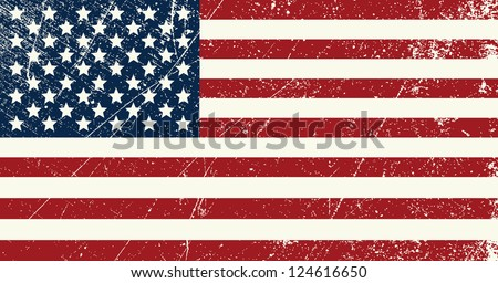 USA flag vintage - stock vector