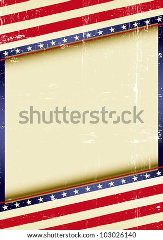 USA Frame. american grunge background of a poster. - stock vector
