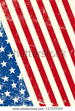USA  grunge flag. An american grunge flag for you - stock vector