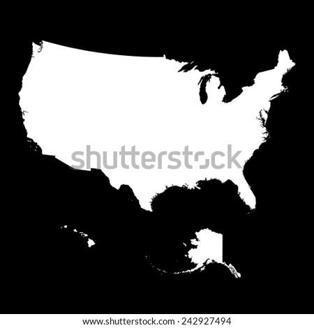 USA Map - stock vector