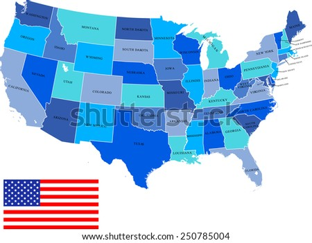 USA Map - stock vector