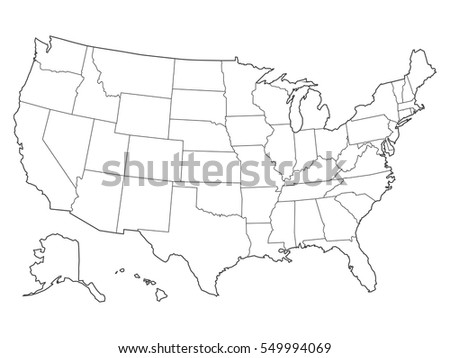 Usa Map Stock Vector Shutterstock - Drawing of usa map