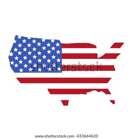 Map United States America American Flag Stock Vector - Us map flag
