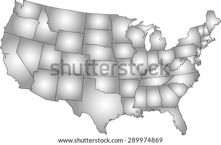 usa map for infographics gradient grayscale color