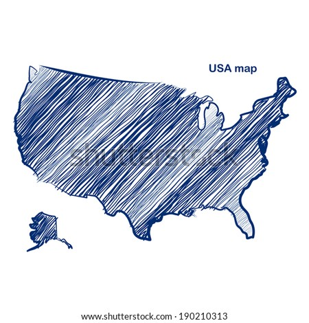 Hand Drawn Map Stock Images RoyaltyFree Images Vectors - Hand drawn us map vector