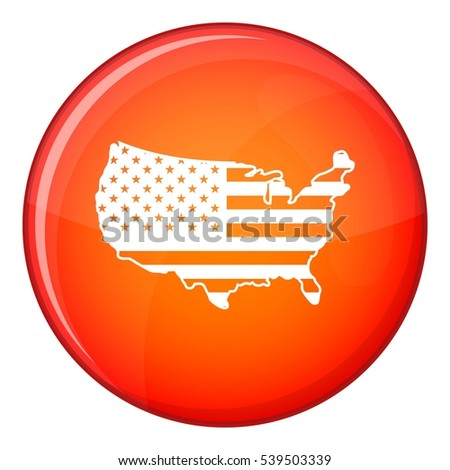 Usa map icon red circle isolated stock vector 539503339 shutterstock usa map icon in red circle isolated on white background vector illustration sciox Choice Image
