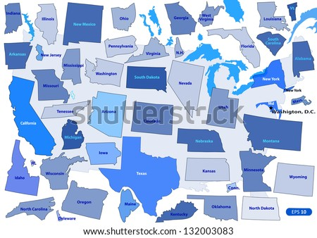 Usa Map Puzzle Outline Vector Ilration Elements Of Horizontal Vertical And Diagonal Directions
