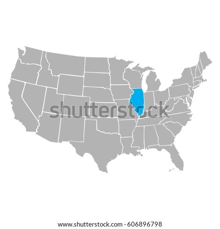 United States America Full Names States Stock Vector - Us map full names