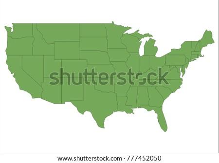 Map Illinois Stock Vector 302258795 Shutterstock