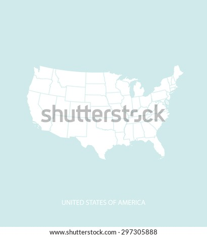 USA map vector in a faded background, United States map outlines for publication, science, and web-page template uses  - stock vector