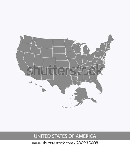 USA map vector, United States map outlines for brochure design and publication uses - stock vector