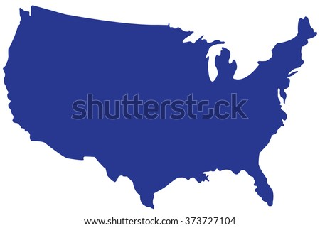 USA map vector.UNITED STATES OF AMERICA MAP VECTOR - stock vector