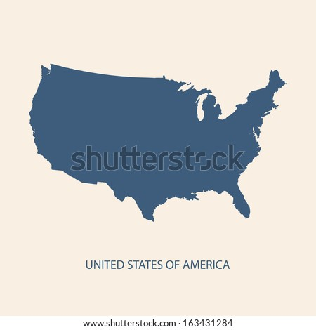 USA map vector, US MAP VECTOR, UNITED STATES OF AMERICA MAP VECTOR - stock vector