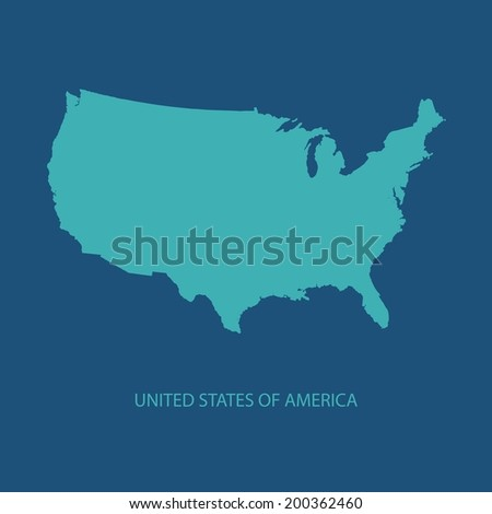 Usa Map Vector Us Map Vector Stock Vector 172732910 Shutterstock