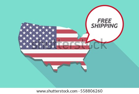 Usa Map Comic Balloon Text Free Stock Vector Shutterstock - Free us map vector