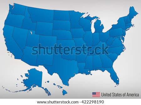 Usa Map States Stock Images RoyaltyFree Images Vectors