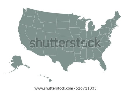 Usa Map Stock Images RoyaltyFree Images Vectors Shutterstock - Us map with state boundaries