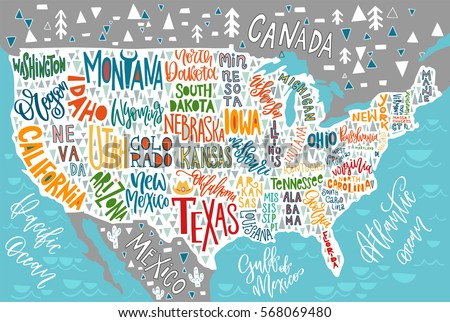 United States Map Outline Stock Images RoyaltyFree Images - Hand drawn us map vector