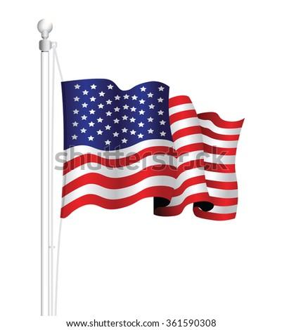 usa national flag - stock vector