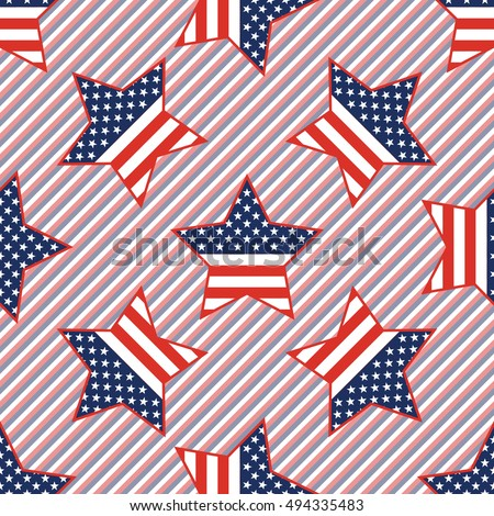 Usa patriotic stars seamless pattern on stock vector 494335483 usa patriotic stars seamless pattern on red and blue stripes background american patriotic wallpaper voltagebd Choice Image
