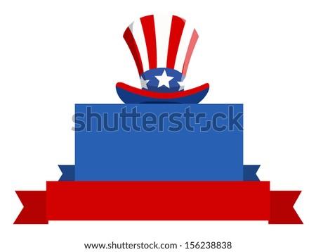 USA Patriotic theme blank banner design vector - stock vector