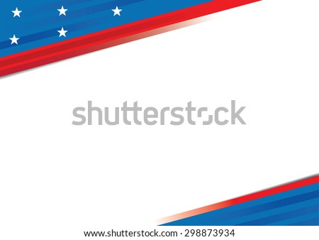 USA  poster, banner and template design - stock vector