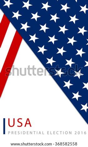 USA 2016 Presidential election poster - stock vector
