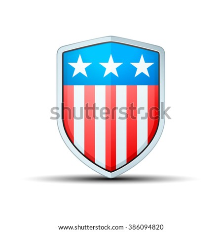 USA Shield Sign - stock vector