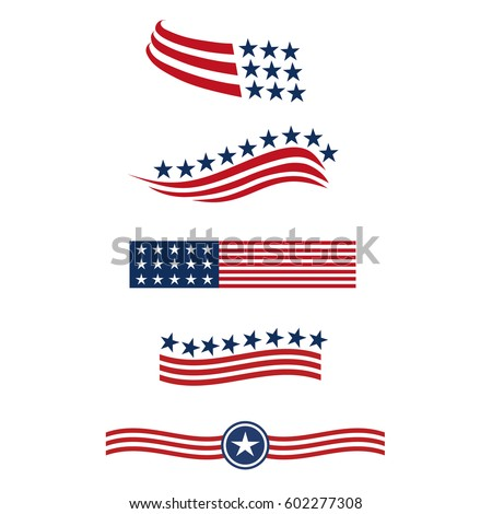 team five people logo concept group stock vector 251930947 american flag logo free american flag logo images