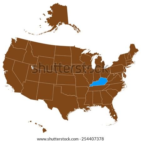 Kentucky Usa Map Images - Kentucky map usa