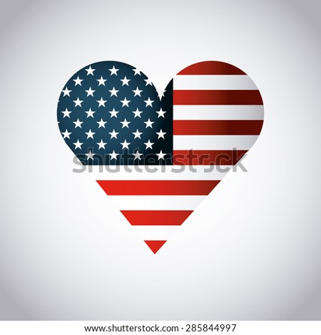 usa symbol design, vector illustration eps10 graphic